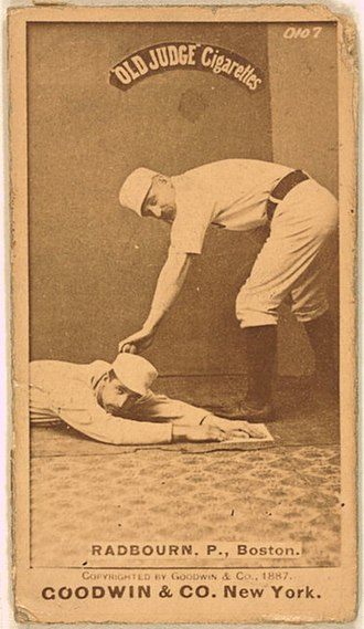 Charles Radbourn - Radbourn on an 1887–1890 Goodwin & Company baseball card (Old Judge (N172)).