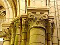 Chars (95), église Saint-Sulpice, bas-côté sud, chapiteaux du 2e pilier de la nef 7.JPG