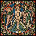 Chartres VITRAIL DE LA VIE DE JÉSUS-CHRIST Motiv 20 Le baptême de Jésus-Christ par saint Jean.jpg