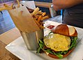Cheeseburger and fries at A'Town Bistro (17234313746).jpg