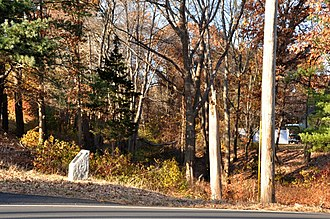 Middlesex Canal - Image: Chelmsford MA Middlesex Canal Remnant