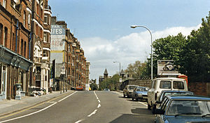 Chelsea & Fulham railway station - The station site on Fulham Road in 1986