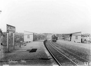 Cheltenham railway station, Sydney - The station c.1900
