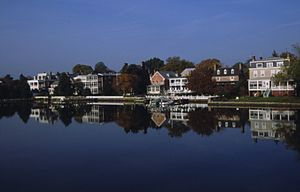 Chestertown, Maryland - Chestertown's historic colonial era waterfront on the Chester River, tributary to the Chesapeake Bay
