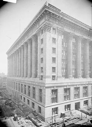 Government of Chicago - Chicago City Hall, shortly before construction was completed in 1911.