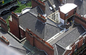 Chimney - Chimney pots in London, England, seen from the tower of Westminster Roman Catholic cathedral