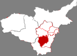 Location in Taiyuan