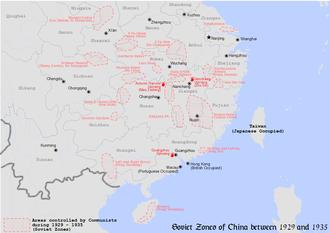 Nanchang uprising - The location of Nanchang uprising.