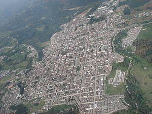 Chinchiná, Caldas - Image: Chinchina from plane