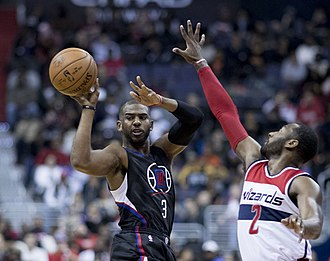 Chris Paul - Paul attempts a pass in December 2016.