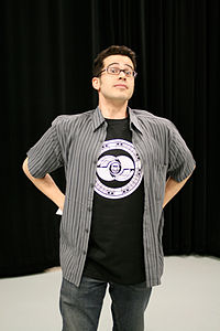 Chris Pirillo wearing the Gnomedex 2007 T-shirt.