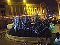 Christmas trees at night in Chamberlain Square (5214778936).jpg
