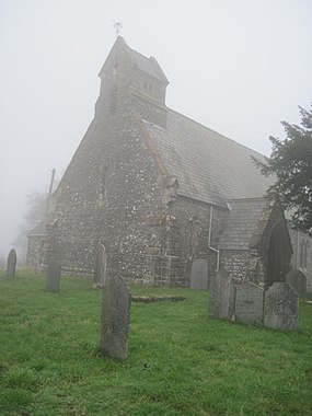 Church in the mist - geograph.org.uk - 1574278.jpg