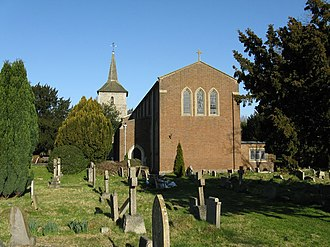 Grade I and II* listed buildings in the London Borough of Croydon - Image: Church of St. John the Evangelist, Old Coulsdon geograph.org.uk 687532