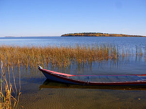 Churchill River (Hudson Bay) - Image: Churchill Lake at Buffalo Narrows, Saskatchewan 2