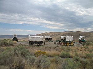 Wagon fort - Circled wagons