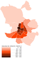 Ciudad de Madrid densidad de población 2005.PNG