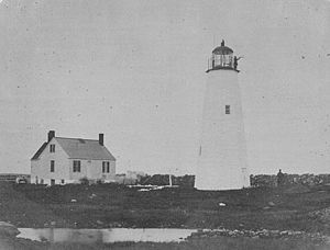 Clarks Point Light - the 1818 tower