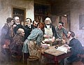 Claude Bernard and his pupils. Oil painting after Wellcome L0006244.jpg