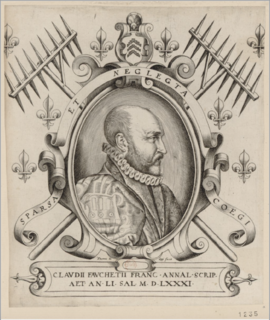 Claude Fauchet (historian) French official, historian and antiquary (1530–1602)
