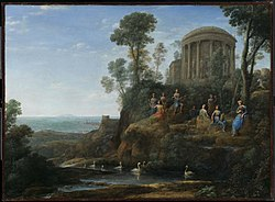 The Paintings Of Claude Lorrain Inspired Stourhead And Other English Landscape Gardens
