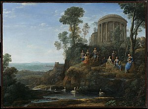 English landscape garden - The paintings of Claude Lorrain inspired Stourhead and other English landscape gardens.