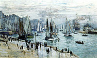 Claude Monet, Fishing Boats Leaving the Harbor, Le Havre.jpg