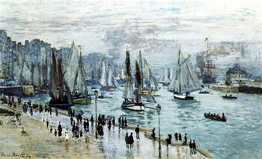 Claude Monet, Fishing Boats Leaving the Harbor, Le Havre