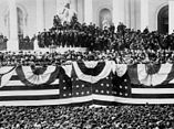 Inauguration of US President Grover Cleveland in 1885