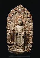Stele with Shakyamuni and Maitreya