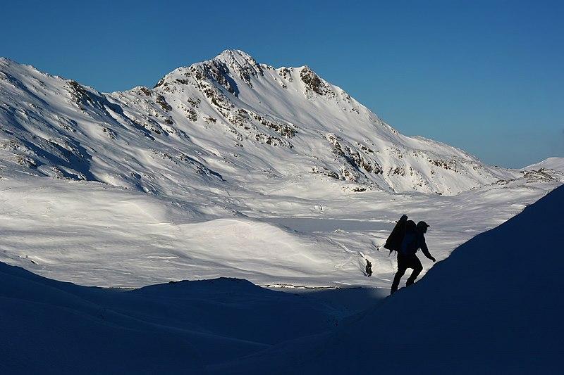 File:Climbing toward Husky Pass, Mt. Reed in the background. Adak Island, Aleutian Islands, Alaska.jpg