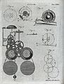 Clocks; a clock face (top), and mechanism (below). Engraving Wellcome V0023843.jpg