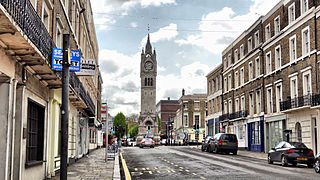 Gravesend Town in Kent, England