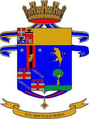 1st Bersaglieri Regiment - Regimental coat of arms.