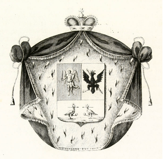 Repnin - The Repnin coat of arms is composed of the emblems of Kiev and Chernigov.