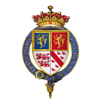 John Talbot, 2nd Earl of Shrewsbury - Arms of Sir John Talbot, 2nd Earl of Shrewsbury, KG