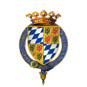 William II, Duke of Bavaria - Gartered arms of William VI, Count of Holland