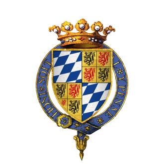 William II, Duke of Bavaria - Gartered arms of William VI, Count of Holland