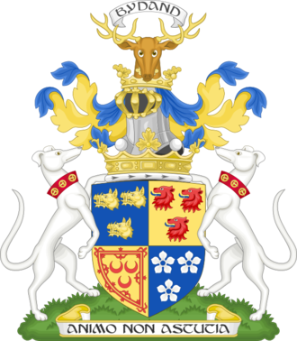 Marquess of Huntly - Image: Coat of arm of the marquess of Huntly Premier marquess of Scotland