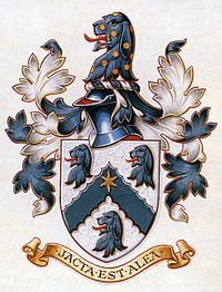 Coat of arms of the Hall family.