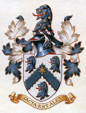 Alea iacta est - The motto of the Hall family from Shackerstone reads jacta est alea.