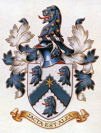 Alea iacta est - The motto of the Hall family from Shackerstone reads jacta est alea.