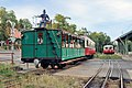 CogwSpecial heritage train departing Svabhegy Stationheel-railway-heritage-train-010 (27861393566).jpg