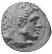 אנטיגונוס מונופתלמוס על גבי מטבע