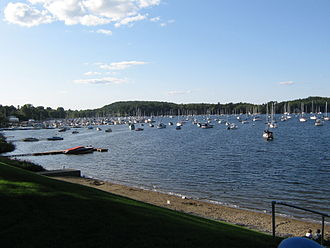 Colchester, Vermont - View of Malletts Bay (part of Lake Champlain) from Bayside Park near the center of Colchester