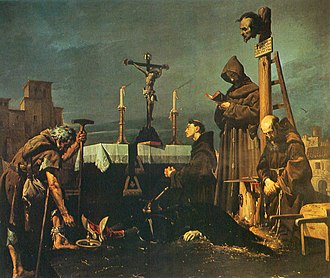 Álvaro de Luna - Sad end of Don Álvaro de Luna. Painting by José María Rodríguez de Losada (1826–1896)
