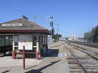 College Park station (Caltrain) - College Park station, 22 September 2012