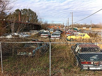 Collier Motors - The front lot as of January 2012