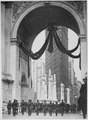 Colonel Donovan and staff of 165th Infantry, passing under the Victory Arch, New York City., 1919 - NARA - 533479.tif
