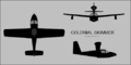 Colonial Skimmer three-view silhouette.png